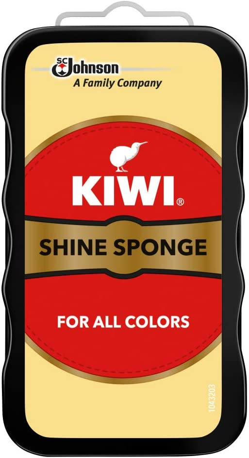 KIWI Shoe Shine Sponge | Leather Care for Shoes, Boots, Furniture, Jacket, Briefcase and More | All Colors: Health & Personal Care