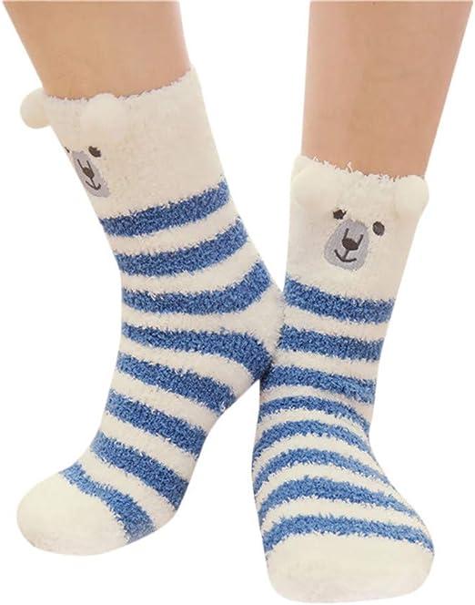 XINXI Home Calcetines de algodón térmicos de Invierno para Mujeres, Calcetines de Calcetines de Animales para Hombres Calcetines de Invierno cálidos y Suaves para Dormir en la Cama: Amazon.es: Hogar