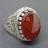 yaman yemen 925 sterling silver mens ring blood kapidy agate عقيق كبدي يماني Reviews