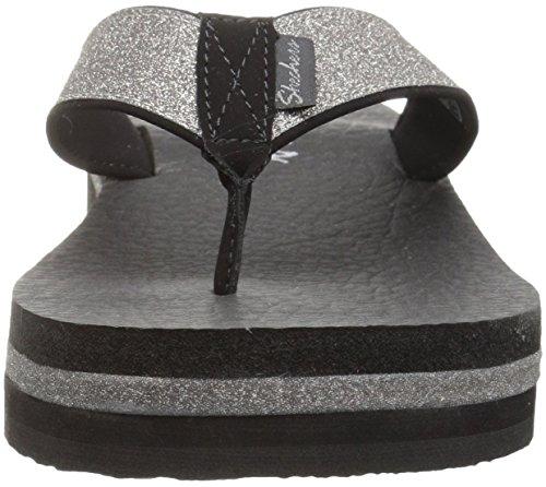Unicorn Flop Micro Skechers Flip Mist Black Women's Glitter Vinyasa wHHFxqz