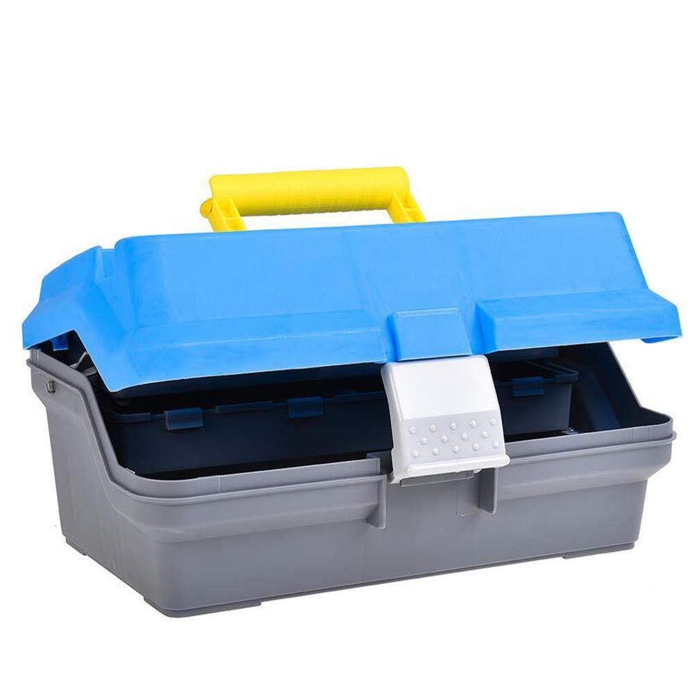 1pc Hand-Held Fishing Tackle Storage Box Fishing Equipment Large Capacity Bait Box Fishing Baits Lures Tool Shock-Resistant Storage Blue