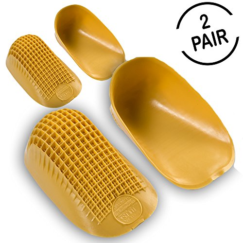 """Tuli's Classic Heel Cups """"Yellow"""" with Lifetime Warranty (2 Pair) - For Heel Pain & Plantar Fasciitis (Large, Over 175lbs)"""