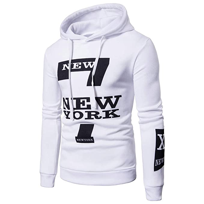 Bestow Sudadera Top tee Outwear Blusa Hombres con Capucha Letras Invierno Letras encapuchadas para Hombre(