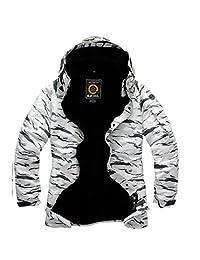 South play mens Outwear waterproof ski-snowboard White Camo Jacket