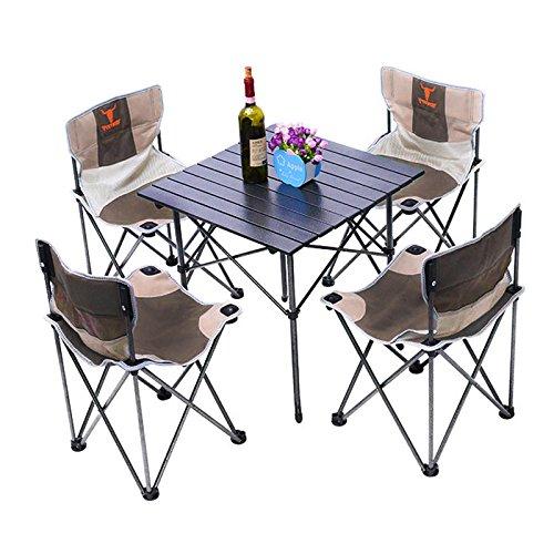 Amazon.com: Juego de sillas plegables 5 en 1 para camping ...