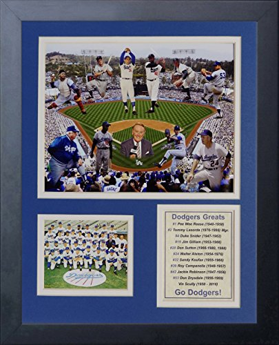 Legends Never Die MLB Brooklyn/Los Angeles Dodgers All-Time Greats Framed Photo Collage, 12