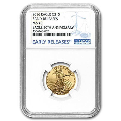 Gold Eagle Ms70 Early Release (2016 1/4 oz Gold American Eagle MS-70 NGC (Early Releases) (1/4) MS-70 NGC)