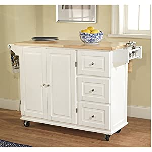 simple living aspen 3 drawer spice rack drop leaf kitchen cart by simple living amazon com  simple living aspen 3 drawer spice rack drop leaf      rh   amazon com