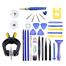 SODIAL(R) Professional Mobile Phone Repair Tools Kit Spudger Pry Opening LCD Screen Tool Screwdriver Set Pliers Suction Cup For iPhone 5 6