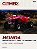 Clymer Repair Manual for Honda ATV TRX250R ATC 250R 85-89