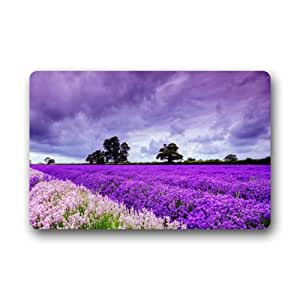 Purple Lavender Decorative Non-slip Indoor/Outdoor Doormat