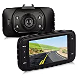 Btopllc On Dash Video Dash Cam Full HD 1080P with G-Sensor Car Video Audio Recording 120 Degree Angle View Car DVR Vehicle Camera Traffic Dashboard Camcorder Dash Cam -Support TF Card - Black