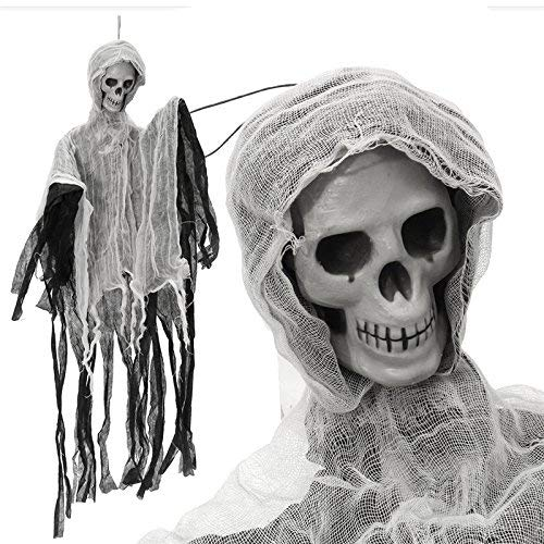- Dangling Wraith - Spooky Party Decoration Hanging Skeleton Haunted Ghost Pendant Horrid Scare Toy Prop - Supported Specter Suspension Ghostwriter Suspended Wall