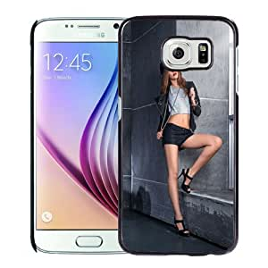 Unique Designed Cover Case For Samsung Galaxy S6 With Bike Girl Phone Case Cover