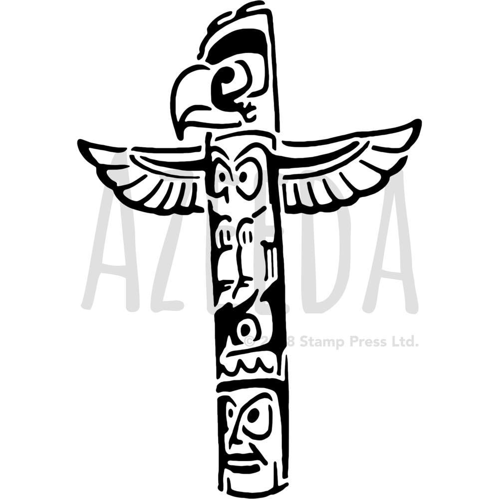 Azeeda Grande A2 Tótem Plantilla de Pared / Estarcir (WS00038337 ...