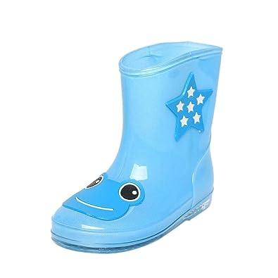 Mode Kinder Regen Schuhe Anti-Rutsch Wasserdicht Regen Stiefel, Green, 27