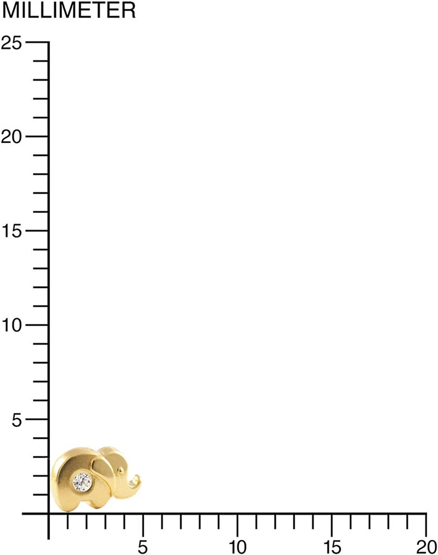 Monde Petit T1814P 18 Carats Boucles dOreilles Enfant Or Jaune 750//1000