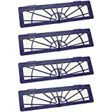 4-Pack High-Performance Filter for Neato BotVac Connected 70E, 75, 80, 85, D70, D80, D85 Robot Vacuum Cleaner - Replacement Parts Compatible with Neato D Series and All Neato BotVac Series