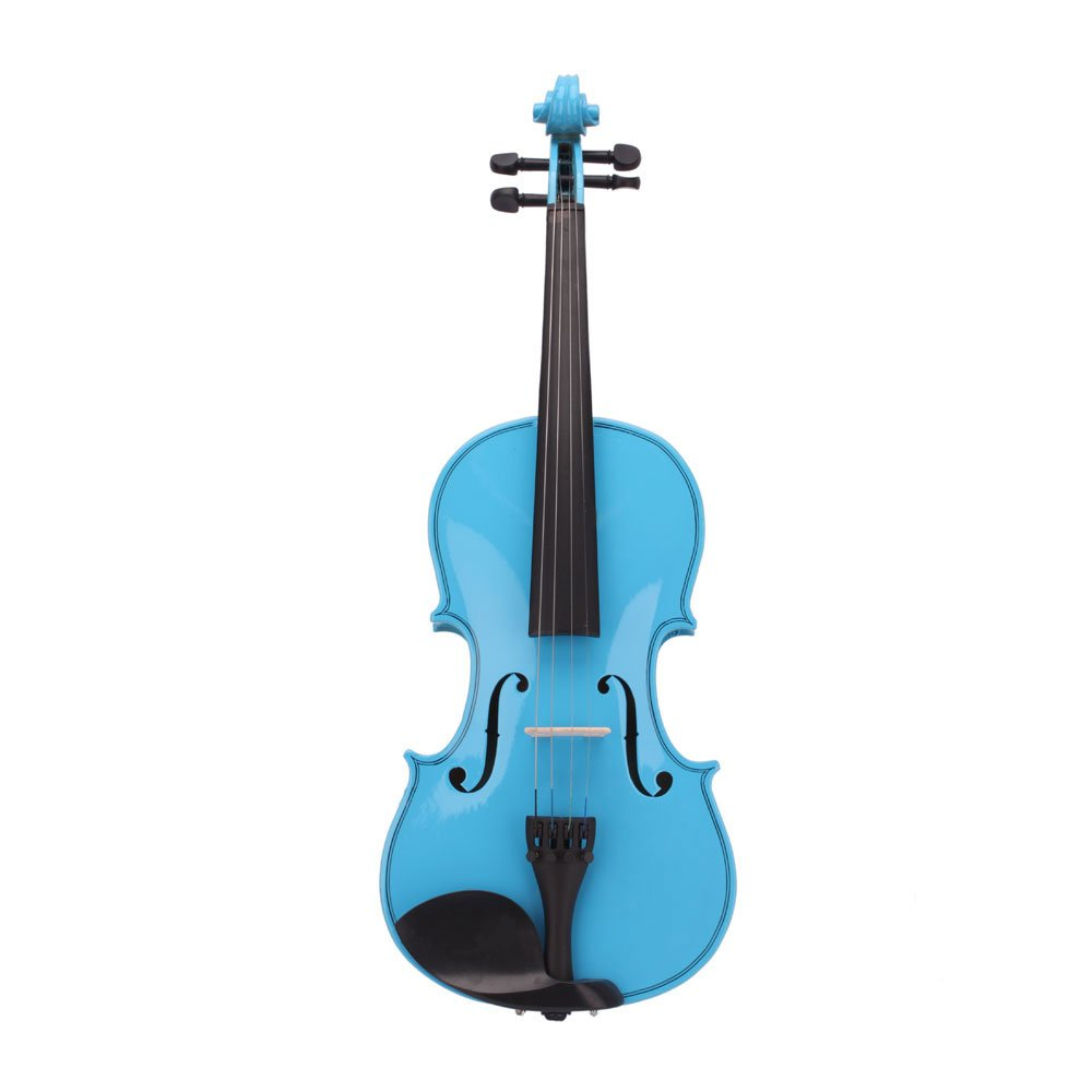 Dark Blue Teeker 4//4 Size Acoustic Violin for Beginner with Fiddle Case//Bow//Rosin