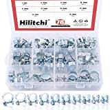 Hilitchi 78-Pcs Mini Fuel Injection Line Style Hose Clamps Assortment Kit - 10 Kinds of Size
