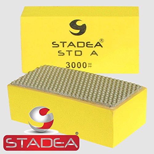 diamond concrete hand polishing pads: Grit 3000 (Granite, Marble, Glass, Stone) 1 Piece by Stadea
