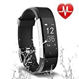 Letsfit Fitness Tracker, Activity Tracker with Heart Rate Monitor and Sleep Monitor, Step Counter Pedometer Watch, IP67 Water Resistant Smart Bracelet for Kids Women and Men