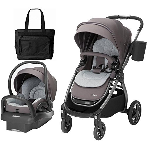 Maxi-Cosi Adorra Loyal Grey Travel System with BONUS Diaper Bag by Maxi-Cosi