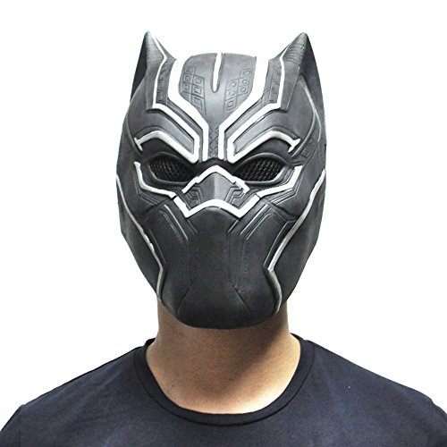SoSo Black Panther Masks Movie Fantastic Four Full Vinyl Mask Cosplay Men's Latex Party Mask For Cosplay Halloween Fancy Ball Party - GET IT NOW!
