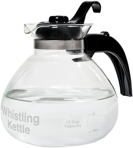 CAF BREW COLLECTION 12 Cup Stovetop Whistling Tea Kettle