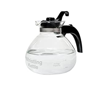Café Brew Collection 12-Cup Stovetop Whistling Tea Kettle