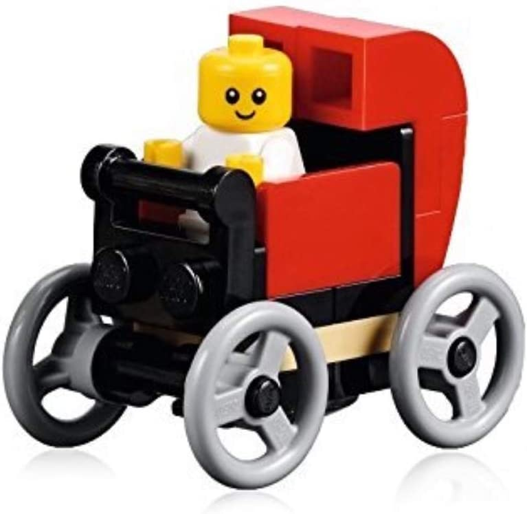 LEGO City Minifigure: Baby (in Red Baby Carriage) from Set 10255