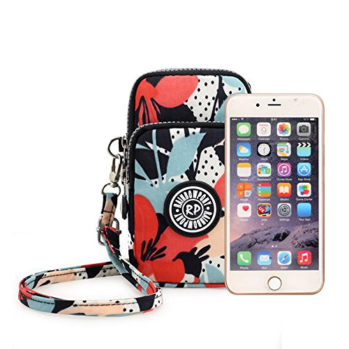 Crossbody Glory Purse Bag Pouch Wrist Morning Shoulder Nylon Multifunctional 3 Phone Bag Layers Sports Zipper Waterproof wvnBtZ