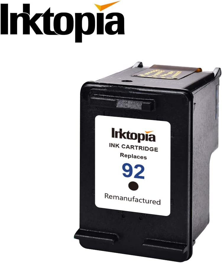 2 Pack 1 Black, 1 Tri-Color Inktopia Remanufactured Ink Cartridge Replacement for HP 92 and 93 C9513FN C9362WN C9361WN