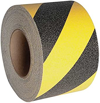 Safe Way Traction 4 X 60 Foot Roll of Black Adhesive Anti Slip Non Skid Abrasive Safety Tape 3100-4