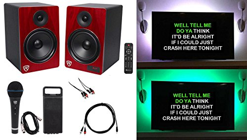 Rockville HTS8C Home Theater YouTube Karaoke Machine System w/Bluetooth+LED's by Rockville