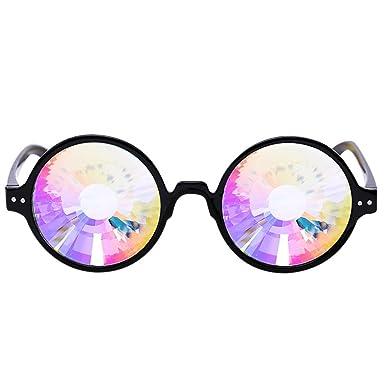LAND-FOX Caleidoscopio Gafas de colores Rave Festival Party ...