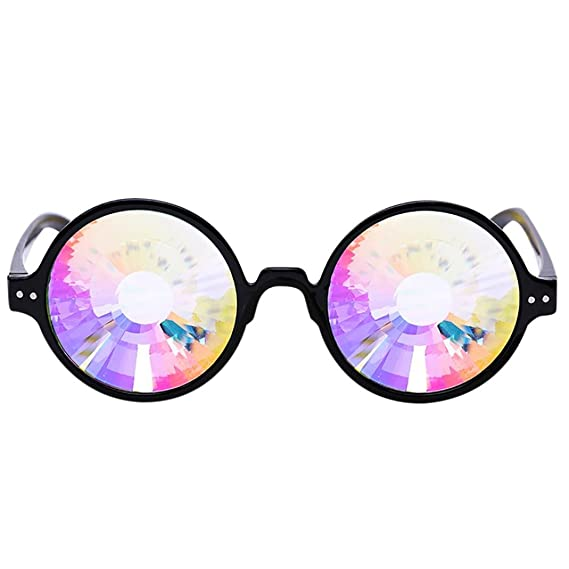 LAND-FOX Caleidoscopio Gafas de colores Rave Festival Party ...