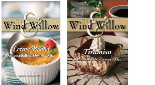 Wind & Willow 2-Pack Cheeseball and Dessert Mix - CREME BRULEE and TIRAMISU (Tiramisu Dessert)