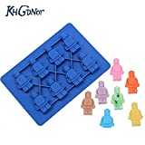 Lovetosell123 Ice maker mold 1pc Silicone Lego Robot Ice Cube Cake Chocolate Molds Jelly Molds Candy Cake Mould Bakeware Kitchen Accessories