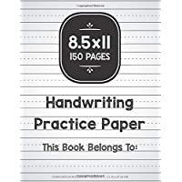 Handwriting Practice Paper: Composition Notebook Grades K-3 150 Pages: Blank Dotted Midline Journal