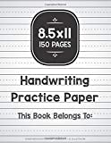 Handwriting Practice Paper: Composition Notebook