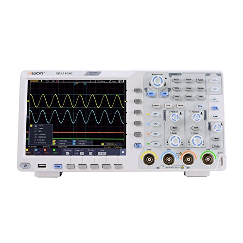 OWON XDS3104E Digital Oscilloscope 100Mhz DSO 4 Channels 1GS/S 8 BITS LCD with Touch screen Function,45,000 wfms/s refresh rate.40M record length, Standard I2C,SPI,RS232 and CAN decoding