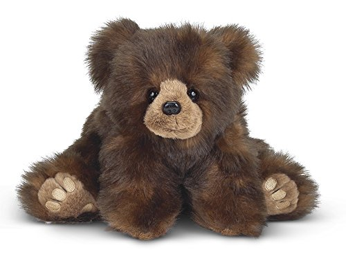 Bearington Huggy Ben Plush Stuffed Animal Brown Bear, 19""
