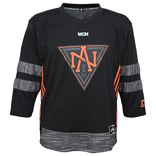 adidas North America World Cup of Hockey Black Jersey Kids Size 4-7 ()