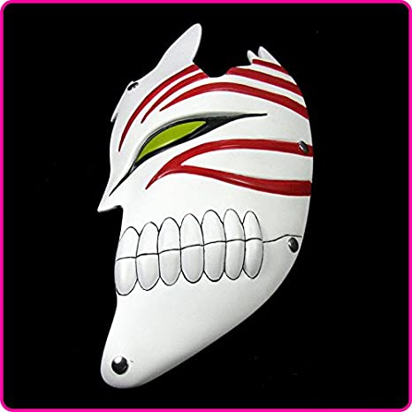 2015 - la mitad de la cara de resina Bleach Ichigo Bankai Halloween Horror Movie máscaras para adultos: Amazon.es: Hogar