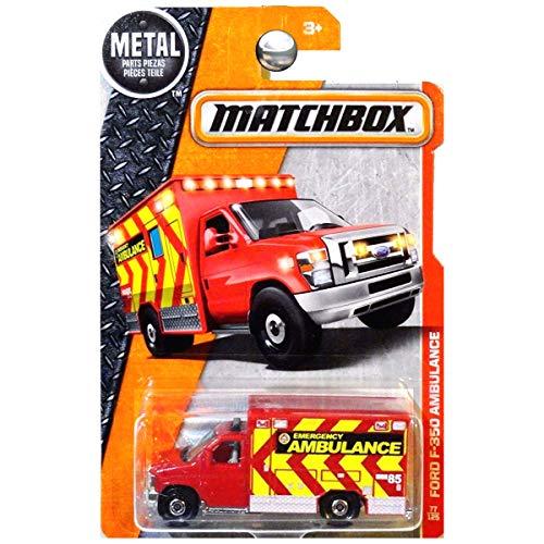 Matchbox 2016 Ford F-350 Ambulance 77/125, Red