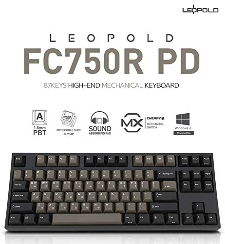 047709fd36b Amazon.com: Leopold FC750R PD 87keys High-end Mechanical Keyboard MX cherry  switch 1.5mm PBT (Blue/Grey, Brown Switch): Computers & Accessories