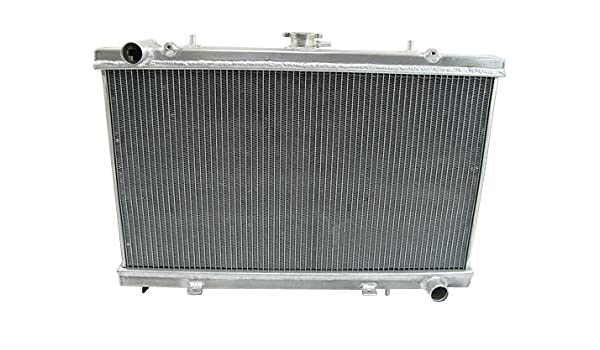 DUAL CORE FULL ALUMINUM RACING 2-ROW RADIATOR FOR 89-94 240SX S13 SR20-DET SR