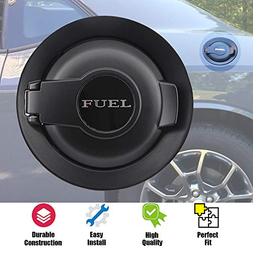 dodge challenger fuel door black - 7