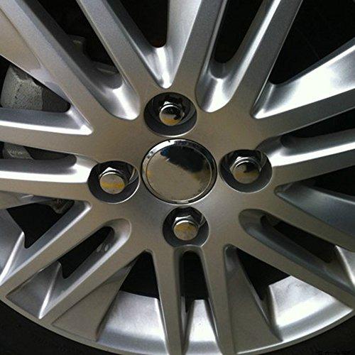 ECCPP Wheel Lug Nuts 24 Pieces 14X1.5 Thread Close End Silver Chrome Truck Socket Lug Nuts for Ford//Acura//Cadillac//Chevy//Chrysler//GMC//Honda//Jeep//Toyota//Hummer 1960-2014